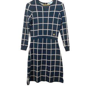 DRAPER JAMES | Long Sleeve Navy Sweater Dress | XS